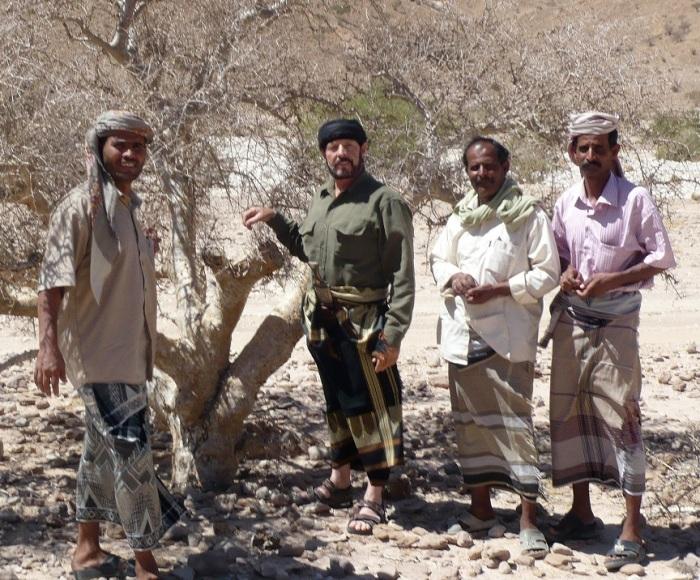 Interior of Yemen researching Myrrh and Frankincense Trees